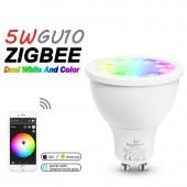 LED Spotlight GU10 RGB CCT 5W ZGBEE ZLL Amazon Echo Plus Control Lamp