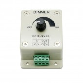 2Pcs LED Dimmer DC 12-24V 8A Light Dimmer Bright Brightness Adjustable Controller Single Color LED Controller