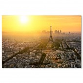 Decorative Cityscape Picture Sunset Artwork Paris Eiffel Tower Cityscape Canvas Print 24 x 36 Inch