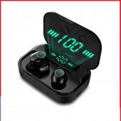 Ture Wireless Headphones IPX7 TWS 5.0 Bluetooth Earphone HIFI Headset Sports Waterproof LED Earbuds With mic Power Bank