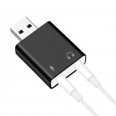 USB Sound Card,7.1 External USB to Jack 3.5mm Headphone Adapter Stereo Audio Mic Sound Card for PC Computer Laptop