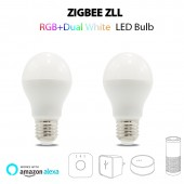 ZIGBEE AC100-240V 6W LED BULB RGB+CCT Dual White Smartphone APP Amazon Alexa Voice Control E27 Bulb Lamp Zigbee Zll Light Link
