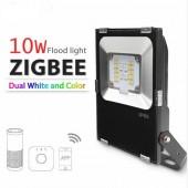 ZIGBEE LED 10W Floodlight RGB+CCT Warm White And Cool White Dual White Zigbee Light Link LED Lamp AC110-240V APP Work Echoplus