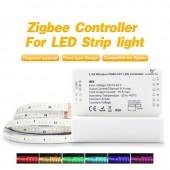 Zigbee Led Strip Light Work With Alexa Echo Puls Rgb/Rgbw/Rgb+Cct Warm White 24V Zigbee Controller Smart Phone Control LED Light