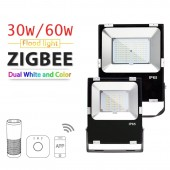 ZIGBEE Led 30W/60W RGB+CCT Floodlight Outdoor Light Waterproof