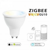 Zigbee WW/CW GU10 LED Spotlight 5W ZLL Phone APP Control Color Temperature Lamp AC100-240V Cool White And Warm White Led Bulb