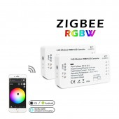 Zigbee Zll Smart Home LED Strip Rgbww Controller DC12V-24V Zigbee 3.0 Phone Control Compatible With ECHO Plus Smartthings Hub