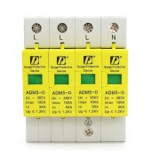 1 Pcs 4P 5KA~10KA AC SPD Din Rail 35MM 385V Household Low-Voltage Surge Protection Device Lightning Arrester
