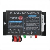 1 Pcs Waterproof PWM Solar Charge Controller 10A/20A Regulator 12V/24V Auto LED Display Solar Panel Controller For LED Light