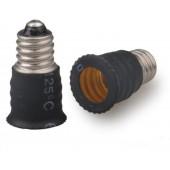 10pcs E10 to E12 Lamp Base Conversion Socket Resistance PC E10 Socket
