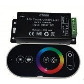 12-24V 18A RGB RF LED Touch Remote Controller LED Strip 433 Iron Controller