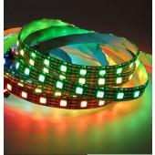 APA107 LED Strip RGB Pixel Tape Light 5V 5050 SMD Addressable Smart 30/60/72/144 LEDs/m White/Black PCB IP20/IP65/IP67