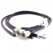 1pc high flex hirose 6 pin basler GIGE AVT SFCC-6S hr10a-7p-6s normal cable female hirose 6pin connector CCD Camera Lens cable