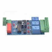 3CH Relay Controller DMX 512 Decoder RGB LED Strip Module Dump Node 5~24V WS-DMX-RELAY-3CH-BAN