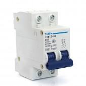 2 Pieces / Lot High Performance 2P 63A 250V DC MCB Solar Energy Mini Switch PV Solar DC Circuit Breaker 35mm Din Rail