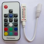 DC5V-24V 12A Mini RF Wireless LED RGB Remote Controller