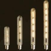 220V Vintage Antique Retro LED Edison Bulb E27 Tube Light Bulbs Warm Yellow/Warm white Filament Edison Lamp(2W 3W 4W 6W) 5Pcs