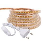 5M SMD 2835 LED Strip 220V Waterproof Flexible Led Tape Light Rope Garden Lamp