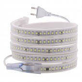 220V SMD2835 144Leds/m LED Strip Waterproof with IC More Stable Flexible Tape EU Plug Light Fixture for Deco
