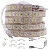 276Leds/m Three Row LED Strip 2835 220V 240V Waterproof Tape Rope Light Home Decoration Lighting New