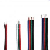 2PIN 3PIN 4PIN 5PIN RGB RGBW Extension Cable Cord 1m/10m/20m/100m Power Cable Wire 22AWG