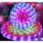 New Upgraded 32.8 Foot/10 meter Waterproof IP65 Dream Color Chasing Digital Addressable RGB Flexible LED Strip Light Kit DC12V 300LEDs Bluetooth Music Controller For Home Party Eaves Car Decoration