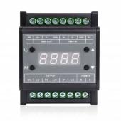 AC90-240V 3CH Guide Rail DMX Triac Dimmer with Digital Tube Display