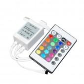 2Pcs 12v 24v 72W 144W 3Channels RGB 6A IR Controller