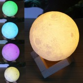 3D Magical Moon Lamp Creative LED Night Light Moonlight Desk USB Rechargeable With Remote or Button-Switch For Home Decoration