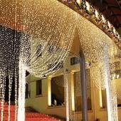 3m x 3m /4m x65cm LED Curtain Icicle Fairy String Lights ice bar Lamps Christmas 220V New Year Garden Xmas Wedding Party Decor