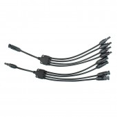 1 Pair MC-4 Solar PV Connector FFFF/M And MMMM/F 4 In 1 Y Branch Connectors For Solar Panel System
