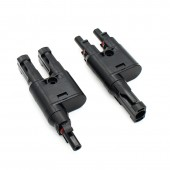 3 Pairs/Lot 2 To 1 Branch MC-4 Solar Branch Connector Suitable For 2.5mmsq 4.0mmsq 6.0mmsq Solar Cable