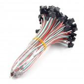 100Pairs 3-PIN JST Connecter Cable Wire For WS2812B WS2812 RGB LED Pixel Strip 15CM wire