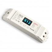 LT-820-5A 4 canaux 5–24V DC DMX512 décodeur avec écran OLED écran pour LED RGBW Bande Lumineuse