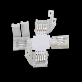 20pcs/lot 10mm 12mm 5PIN RGBW L type / X type / T shape No Soldering connector For 5050 RGBW / RGBWW LED strip 5 PIN Connector