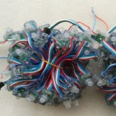 5V IP68 50 Nodes WS2801 Rectangle RGB LED Pixel Module Light