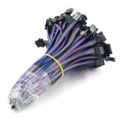 50 Pairs 4Pin JST femal male RGB LED Strip Connecters For WS2801 LPD8806 RGB LED Strip