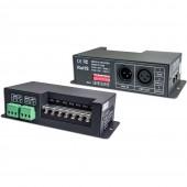 LT-840-6A 4CH x 6A Tension constante DMX-PWM CV Decoder Pilote Convert DMX512 Signal numérique à Contrôleur PWM Signal Equipé Standard DMC