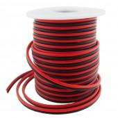40FT 18 Gauge Simple Bande de LED Couleur Extension Cable 18AWG 2pin 2 Couleur Rouge Noir Support de Fil conducteur pour Lampe LED Ruban Ruban Lighting