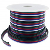 40FT 18 Gauge Strip LED RGBW Extension Cable 18AWG 5pin 5 Couleur Support Fil pour RGBW RGBWW Lampe LED Ruban Ruban Lighting