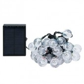 Waterproof USB Solar String Light 6.5M 30LED 12M 100 LED and 8 Modes Fairy Lights Work for 35 Hours With Timer
