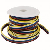 câble Extension 18AWG 6pin 5CH Fil électrique de Calibre 18 RGBW Ruban LED LED Bande Lumineux 10M