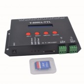 8 port off-line T-8000A pixel controller led sd card ,SPI(TTL)signal output,can control max 1024*8ports=8192pixels