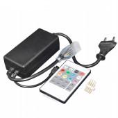 IR Remote High Voltage RGB LED Controller AC110V-220V Power 750W