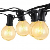 25 Bulbs G40 Globe String Light For Wedding Party Christmas Halloween Bedroom Outdoor Garden Holiday Decoration Lighting