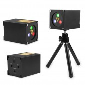 30 Patterns Mini RGB Rechargeable Laser Projector Stage Lighting Effect Party Wedding Bar DJ Disco Holiday Christmas Laser