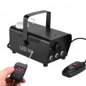 400W Mini Smoke Fog Machine Disco DJ Party Holiday Wedding Bar Christmas Wireless Remote Control Fogger With RGB LED Light