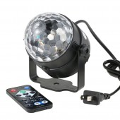 6W 7 Color RGB Remote LED Crystal Magic Ball DJ Disco Stage Lighting Effect Party Holiday Christmas Birthday Music Lamp