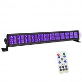 Remote 24 LED UV Violet Wall Washer Black Lights DJ Disco Bar Party Birthday Wedding Club DMX 512 Stage Lighting Effect