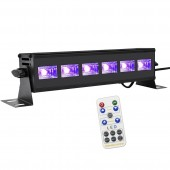 Remote Control DMX LED UV Stage Light Ultraviolet Black Lighting Effect Party Club Disco DJ Christmas Holiday Wall Washer